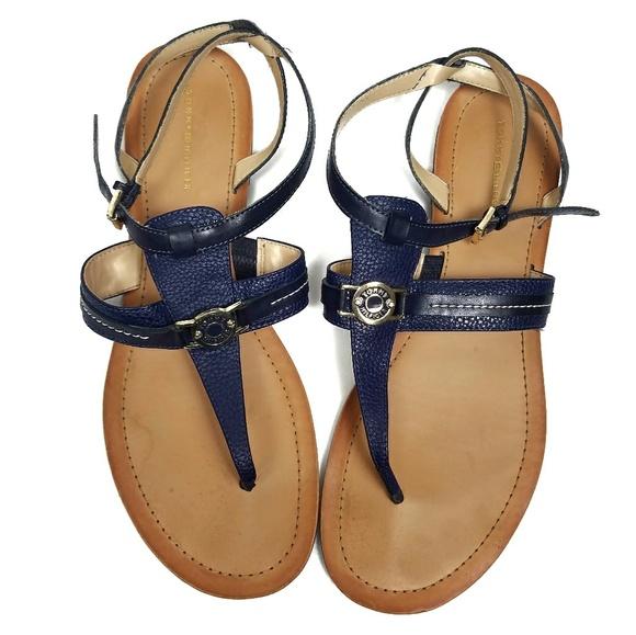 b506e24d5 Tommy Hilfiger Strappy Sandals 11M Navy Blue. M 5a7a873836b9de839ed74d33
